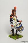 Франция. Барабанщик линейной пехоты 1812 год - Оловянный солдатик коллекционная роспись 54 мм. Все оловянные солдатики расписываются художником в ручную