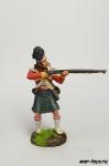 Англия. Стрелок шотландской пехоты Начало 19 века - Оловянный солдатик коллекционная роспись 54 мм. Все оловянные солдатики расписываются художником в ручную