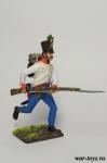 Австрия. Бегущий венгерский пехотинец Середина 19 века - Оловянный солдатик коллекционная роспись 54 мм. Все оловянные солдатики расписываются художником в ручную