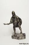 Варвары. Викинг в бою 8-10 вв. - Оловянный солдатик. Чернение. Высота солдатика 54 мм