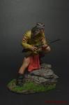 Индейцы. Воин Апачи - Оловянный солдатик коллекционная роспись 54 мм. Все оловянные солдатики расписываются художником вручную