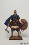 Викинг, 10 век - Оловянный солдатик коллекционная роспись 54 мм. Все оловянные солдатики расписываются художником в ручную