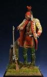 Ирокез, 1755 г. - Оловянный солдатик, белый металл (набор для сборки из 17 деталей). Размер 54 мм (1:30).