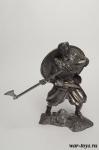 Викинг, 9-11 вв. 75 мм - Оловянная миниатюра. Чернение. Высота 75 мм.