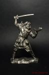 Викинг, 9-11 вв - Не крашенный оловянный солдатик. Высота 54 мм