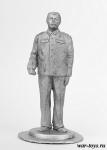 Сталин И.В. - Оловянный солдатик. Чернение. Высота солдатика 54 мм