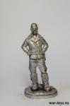 Чкалов В.П. - Оловянный солдатик. Чернение. Высота солдатика 54 мм