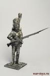 Рядовой Голлндских гренадер Сред. Импер. гвардии. Франция 1812 - Оловянный солдатик. Чернение. Высота солдатика 54 мм