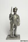 Фузилер 1807 г - Не крашенный оловянный солдатик. Высота 54 мм