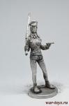 Девушка - Не крашенный оловянный солдатик. Высота 54 мм.