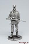 Генерал - Не крашенный оловянный солдатик. Высота 54 мм.