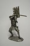 Самурай - Не крашенный оловянный солдатик. Высота 54 мм.