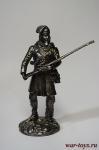 Траппер - Не крашенный оловянный солдатик. Высота 54 мм.