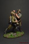 Схватка - Оловянный солдатик коллекционная роспись 54 мм. Все оловянные солдатики расписываются художником вручную