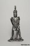 Людовик 6 Святой Король Франции 1270 г. - Оловянный солдатик. Чернение. Высота солдатика 54 мм