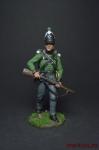 Рядовой 95-го стрелкового полка. Великобритания, 1810-15 - Оловянный солдатик, роспись 54 мм. Все оловянные солдатики расписываются художником вручную