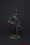 Рядовой 95-го стрелкового полка. Великобритания, 1810-15 - Оловянный солдатик коллекционная роспись 54 мм. Все оловянные солдатики расписываются художником вручную