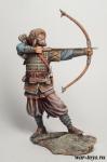 Викинг IX-X вв, 75 мм - Оловянный солдатик коллекционная роспись 75 мм. Все оловянные солдатики расписываются художником в ручную