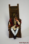 Людовик XI, король Франции, 1461 — 1483 год. - Оловянный солдатик коллекционная роспись 54 мм. Все оловянные солдатики расписываются художником в ручную