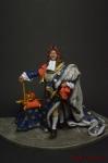 Людовик XIV - Оловянный солдатик коллекционная роспись 54 мм. Все оловянные солдатики расписываются художником вручную