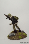Сталкер - Оловянный солдатик коллекционная роспись 54 мм. Все оловянные солдатики расписываются художником в ручную
