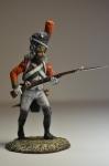 Солдат императорской старой гвардии в наступлении