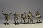 Набор оловянных солдатиков - Средневековье