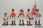 Набор оловянных солдатиков - Англия 1812 г.