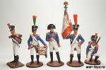 Набор оловянных солдатиков - Франция 1812 г.