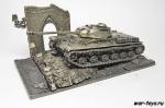 Модель танка КВ-1С с подставкой