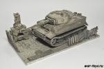 Модель танка Tiger  I с подставкой