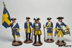 Набор оловянных солдатиков - Шведы
