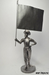 Итальянец с флагом 18 век. 90 мм