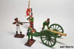 Русский артиллерийский расчет 1812г