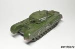 Русские танки №64  с моделью Черчилль Mk IV (тольео модель)