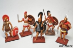 Набор оловянных солдатиков  - Греки