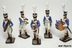 Набор оловянных солдатиков - Музыканты 1812 гг