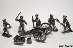 Русский артиллерийский расчет. Бородино 1812 г 40 мм