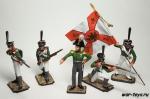 Набор оловянных солдатиков - Преображенцы