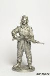 Танкист, стрелок-радист с пулемётом ДТ. 1943-45 гг. СССР