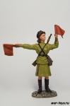 Регулировщица 1945 год - Оловянный солдатик коллекционная роспись 54 мм. Все оловянные солдатики расписываются художником в ручную