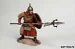 Монгольский копейщик, 13-14 вв. - Оловянный солдатик коллекционная роспись 54 мм. Все оловянные солдатики расписываются художником в ручную