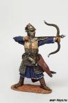 Монгольский лучник, 13-14 вв. - Оловянный солдатик коллекционная роспись 54 мм. Все оловянные солдатики расписываются художником в ручную