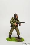Десантник в прыжковом шлеме с ППШ - Оловянный солдатик коллекционная роспись 54 мм. Все оловянные солдатики расписываются художником в ручную