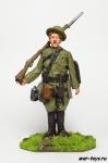Рядовой американской армии, 1917 г - Оловянный солдатик коллекционная роспись 54 мм. Все оловянные солдатики расписываются художником в ручную