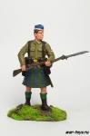 Рядовой шотландской пехоты, 1914 г. - Оловянный солдатик коллекционная роспись 54 мм. Все оловянные солдатики расписываются художником в ручную