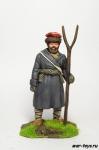 Партизан с вилами, 1812 г - Оловянный солдатик коллекционная роспись 54 мм. Все оловянные солдатики расписываются художником в ручную
