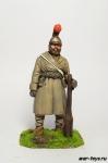 Партизан с дубиной, 1812 г - Оловянный солдатик коллекционная роспись 54 мм. Все оловянные солдатики расписываются художником в ручную
