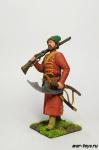 Стрелец в шапке, с бердышом, мушкет на плече - Оловянный солдатик коллекционная роспись 54 мм. Все оловянные солдатики расписываются художником в ручную