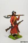 Стрелец в шлеме, с мушкетом - Оловянный солдатик коллекционная роспись 54 мм. Все оловянные солдатики расписываются художником в ручную